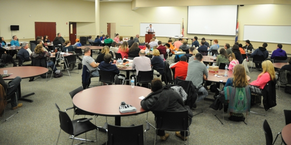The BHS football banquet was held last Wednesday at the Brentwood School District Administrative Office.
