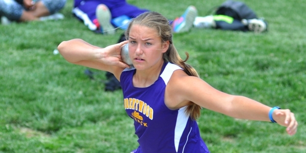 Sophia Rivera concentrates during the shot put at the sectional meet last season. (All photos by Steve Bowman)