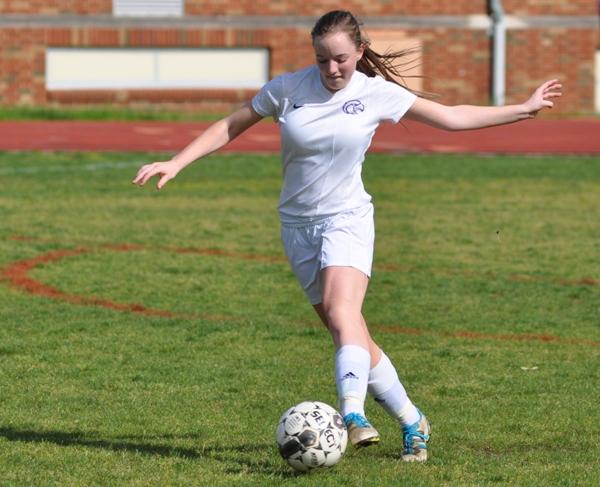 Torri Brotherton works the ball toward the sideline.