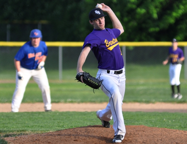 Morgan Murphy pitches to Valley Park in the seventh inning.