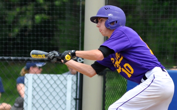 Eddie Wright attempts to bunt in the third inning.