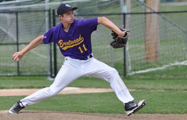 Bradley Jones pitches in the fifth inning.