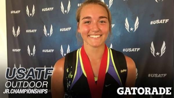 Sophia Rivera at the USATF.