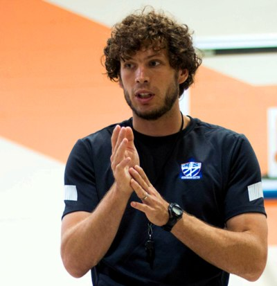 Heinemann speaks at his 18th annual soccer camp in June. (Photo by Caroline Wiley)