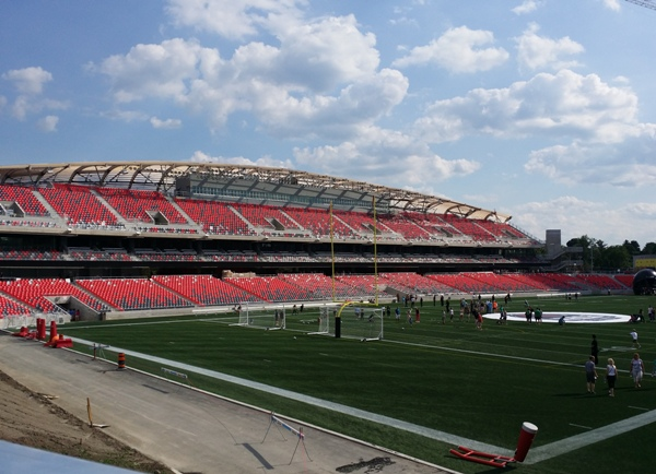 The Ottawa Fury FC play at 24,000-seat TD Place Stadium, which they share with the Redblacks of the Canadian Football League.