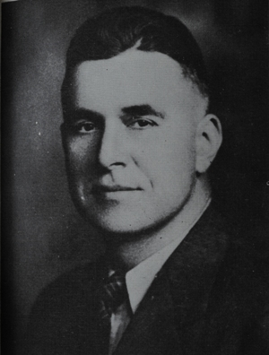 Brentwood's first head football coach, Carlton Roels, led the team in the fall of 1947. (Photo from 1948 BHS yearbook)