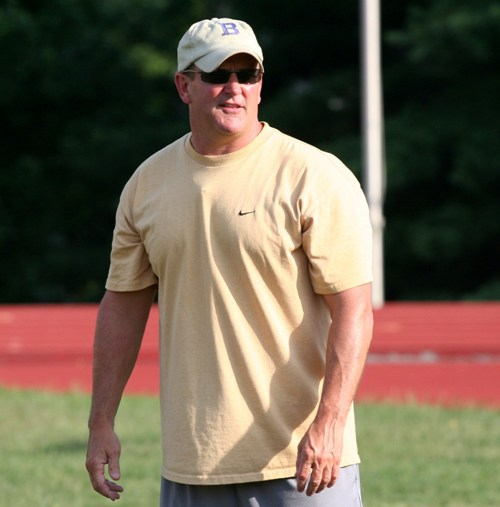 Scott Surgener graduated from BHS in 1980 and returned in 2007 to coach the football team. (Photo by Steve Bowman)