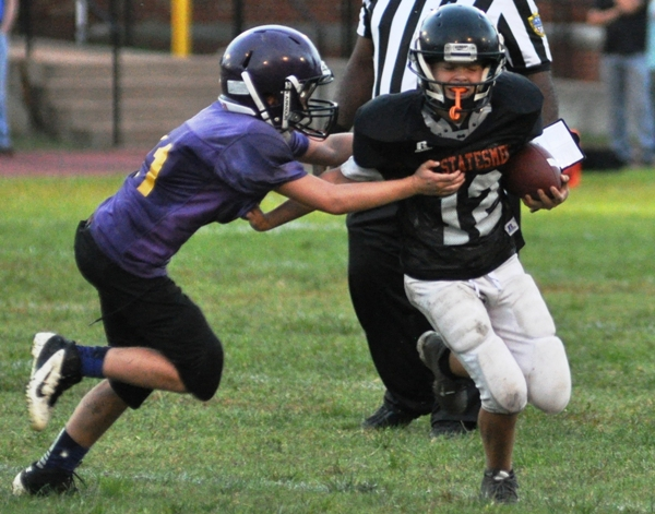 Jack Hampel finds the Webster Groves quarterback in the backfield.