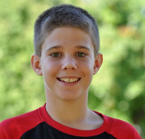 Sixth grader Blake Evans.