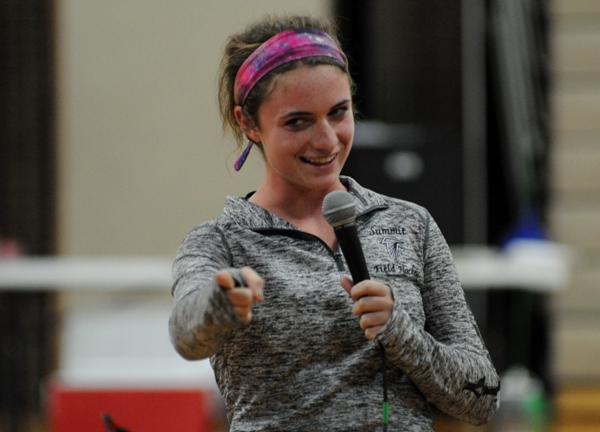 Summit High School lacrosse player Emily Thrower shares her testimony.