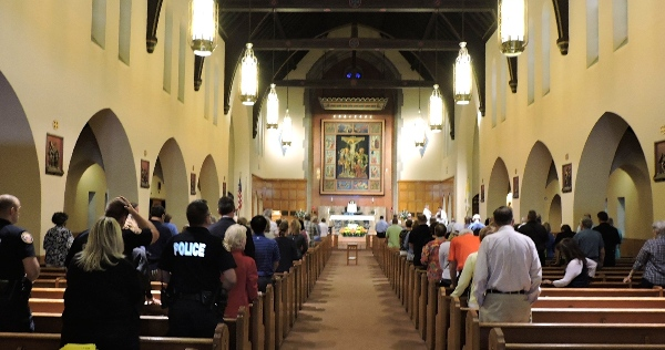 The service was held during a noon mass on Sept. 30. (Photo by Tina Hogan)
