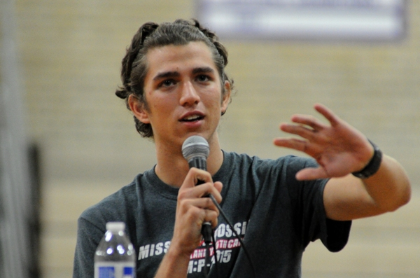 Sean Baker, who runs cross country and plays tennis for Ritenour High School, tells his story.