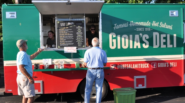 If there had been an award for the most colorful food truck, Gioia's Deli would have won. (Photo by Steve Bowman)
