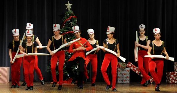 Nutcracker Prince Katie Howard and the soldiers.