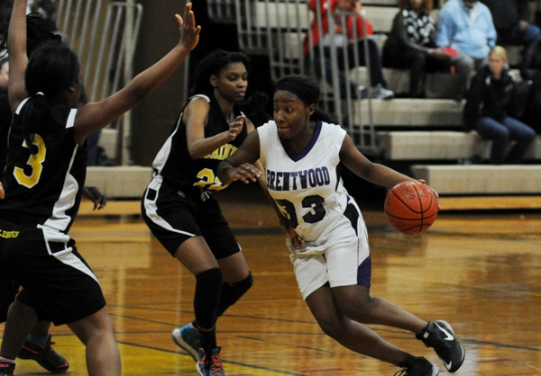 Marshelle Franklin drives to the net against McKinley.