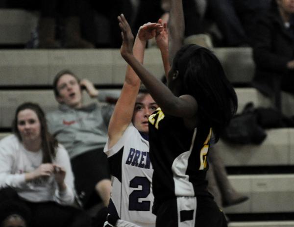 Abby Harper fires a shot against McKinley.