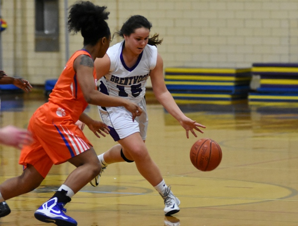 Maggie Callihan heads for the paint against Clayton.