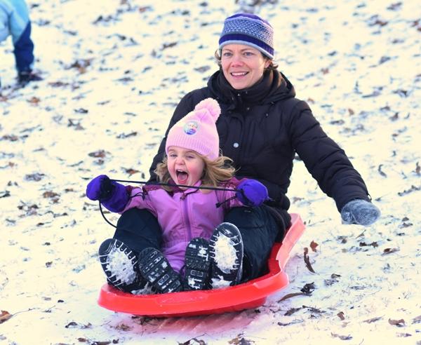 Lindsay Spencer and her daughter Margaret.