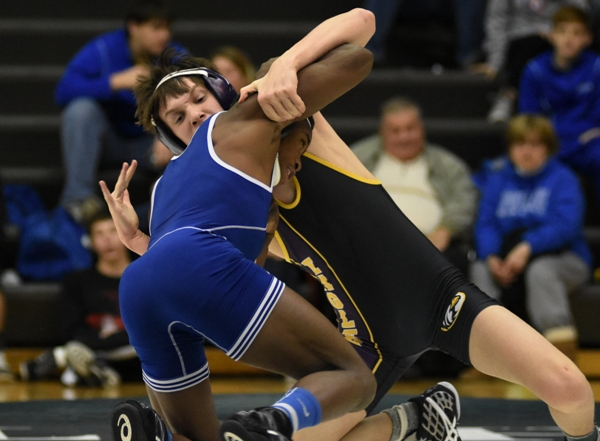 Chase Lynch competes against Romelle Person of MRH. Person won the match.