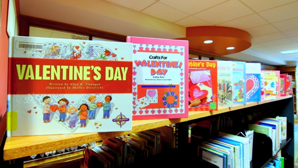 While some businesses are just starting to gear up for Feb. 14 this week, the employees at the Brentwood Public Library had already rounded up and displayed their Valentine's Day books as of a couple of weeks ago.