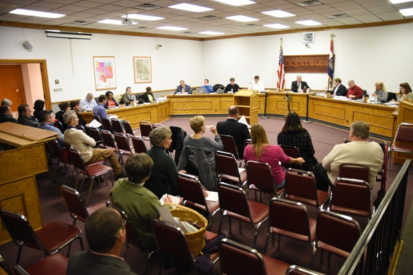 About 20 spectators attended the Brentwood Board of Aldermen meeting Tuesday evening at City Hall. (All photos by Steve Bowman)