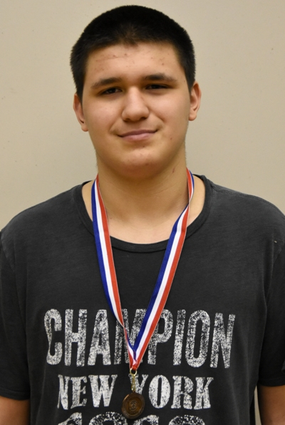 Donovan Obando and his third-place medal.