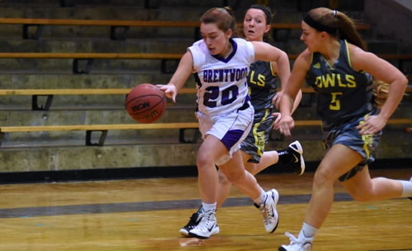 Abby Harper brings the ball up the floor in the Windsor game.