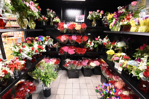Here's the flower cooler at Dierberg's on Feb. 9. An employee said it will get really busy on Feb. 13.