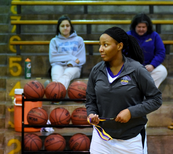 Marshelle Franklin receives a medal after the Windsor game for being named to the all-tournament team.