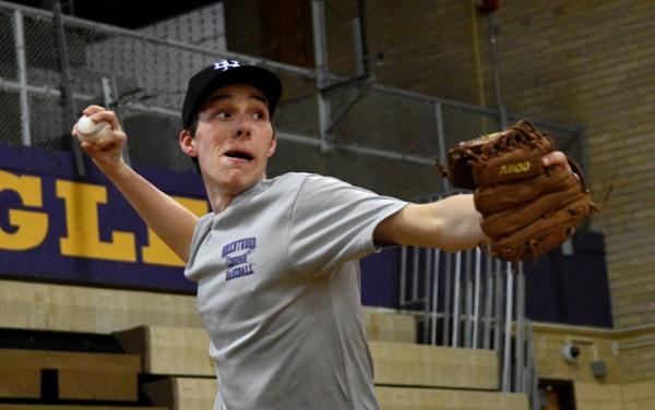 Senior pitcher Seth Winkleman.