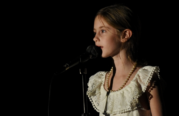 """Second grader Sophia Rupp sings """"Castle On a Cloud"""" from Les Miserables."""