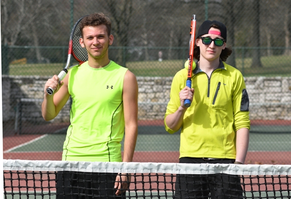 Juniors are Jake Burkhardt (left) and Brett Easley.
