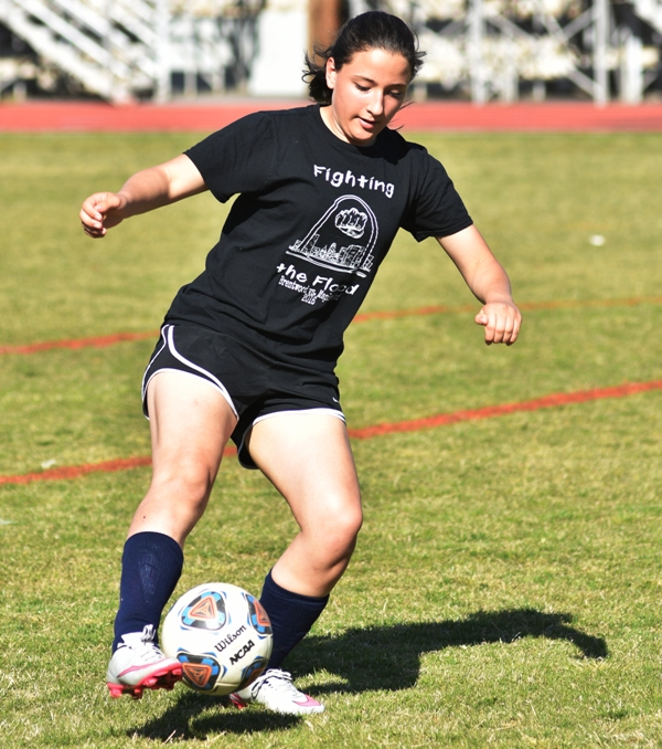 Freshman Rachel Walthall has been playing goalkeeper.