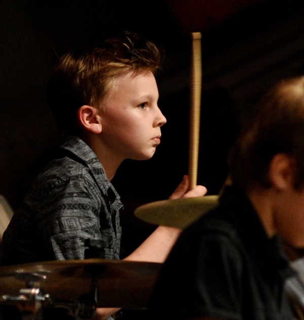 "Nathan Sittner keeps the beat in ""Rock Medley 2."""