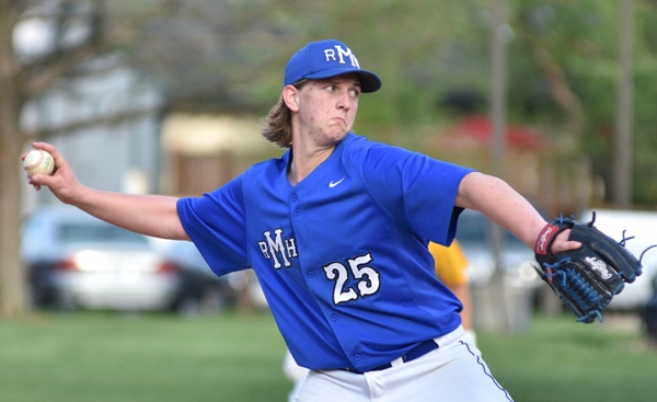 """Drew Curtis of Maplewood-Richmond Heights lasted seven innings. """"He was good,"""" said BHS coach Mike Imergoot. """"He was downstairs and he had a good curveball."""""""