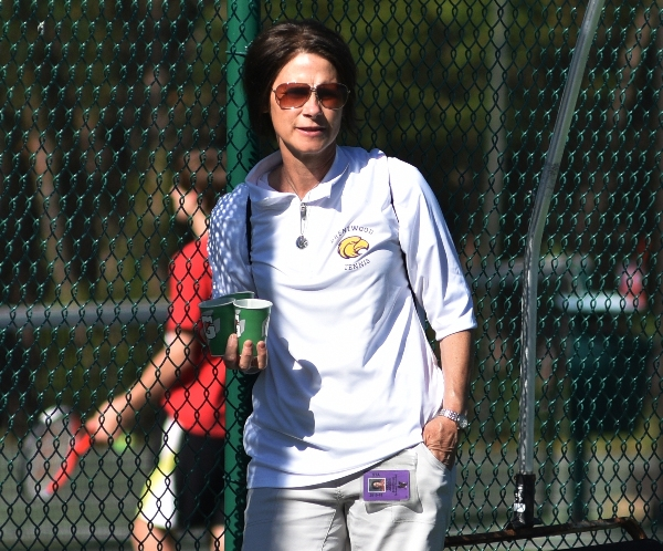 Assistant coach Kelly Javier.