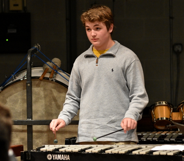 Eighth grader Tristan Jones.