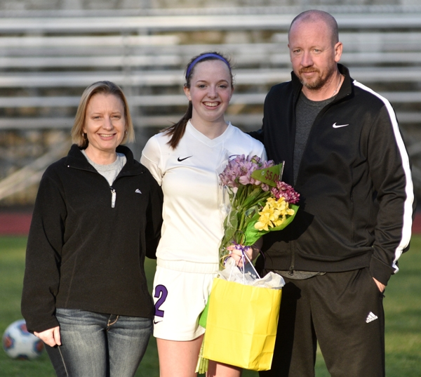 Torri Brotherton with her parents, Laura and Bob Brotherton.