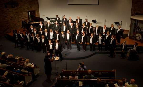 The Community Gospel Choir has about 60 members.